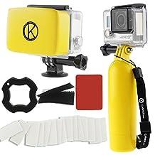 CamKix AccessoryBundleforGoproHero4,Black,Silver,Hero+LCD,3+,3,2,1includingFloatingHandGrip/Floater/Anti-Fog(Yellow)