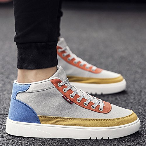 Men's Shoes Feifei Winter Comfortable and Breathable Wear-Resistant High Help Casual Shoes 3 Colors (Color : 01, Size : EU39/UK6.5/CN40)