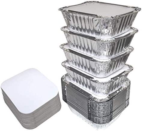 55 PACK Aluminum Containers Disposable product image