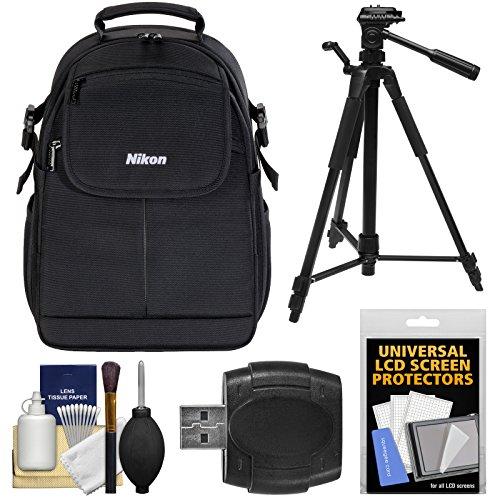 Nikon Camera Backpacks - Nikon 17006 Compact DSLR Camera Backpack Case with Tripod + Kit for D3300, D3400, D5300, D5500, D7100, D7200, D610, D750, D810