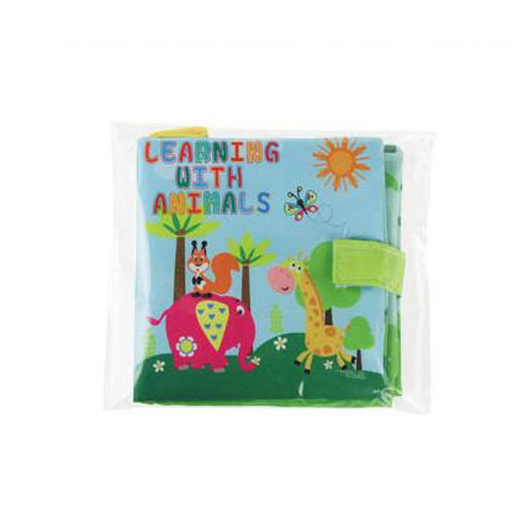 Soft Cloth Book Baby Toy Early Learning Education Donkey Animals Book Infant Toy