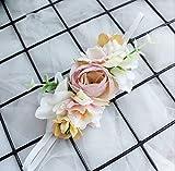 Women Girls Headband Head Flower Crown Wedding Kid Hair Accessories Bridal Flower Girl Wreath Elastic Headpieces 6Pcs/Lot 2