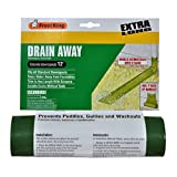 Frost King DE300 Standard Plastic Drain Away Downspout Extender, Extends 12-Feet, Green