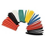 TOOGOO(R) 50 PCS Colorful Assorted Heat Shrink Tube 8 Sizes Tubing Wrap Sleeve Set Combo Multicolo