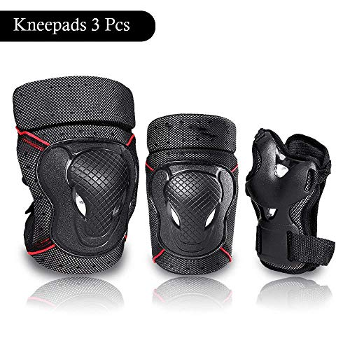 - Kingcenton BMX Bike Knee Pads and Elbow Pads with Wrist Guards 3 in 1 Protective Gear Set for Biking, Riding, Cycling and Multi Sports Safety Protection: Scooter, Skateboard, Bicycle, Inline skatings