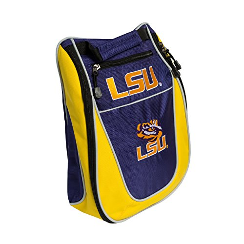 Tiger Golf Shoes - Team Golf NCAA LSU Tigers Travel Golf Shoe Bag, Reduce Smells, Extra Pocket for Storage, Carry Handle