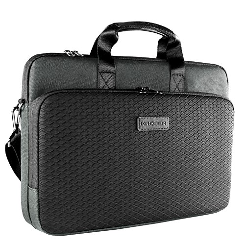 Case Laptop Business - KROSER Laotop Bag Laptop Briefcase 15.6 Inch Shoulder Messenger Bag Water-Repellent Business Bag Laptop Sleeve Case for College/Office/Women/Men-Dark Grey/Black