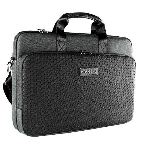 KROSER Laotop Bag Laptop Briefcase 15.6 Inch Shoulder Messenger Bag Water-Repellent Business Bag Laptop Sleeve Case for College/Office/Women/Men-Dark Grey/Black ()