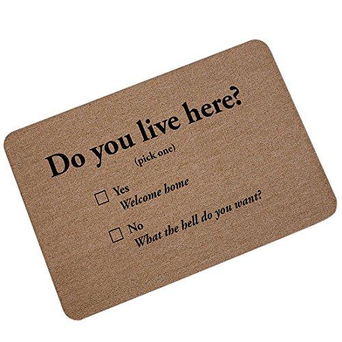 Live Here Door Mat - 1