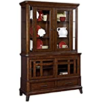 Broyhill Estes Park 4364-565-566 China Cabinet with Base and Deck in Artisan Oak