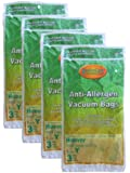 12 Hoover HEPA Allergy Type Y Bags, WindTunnel Upright Vacuum Cleaners, 43655109, 4010100Y, 4010801Y, AH10060DT,AH10040CLP,902419001, Royal, Gold Star, Pacific Steamex