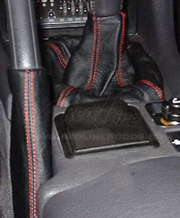 Medium Gray Leather-Black Thread RedlineGoods Shift Boot Compatible with Mitsubishi GTO//3000GT 1990-97