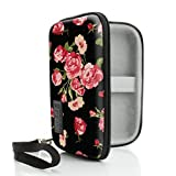 USA Gear JUUL Vape Case with eCigarette & Pod Travel Storage - Weather & Scratch Resistant, Wrist Strap, Compact Design with Hard Shell Exterior - Floral