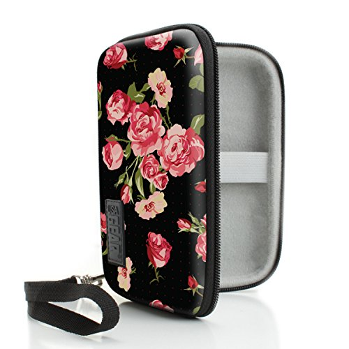 USA Gear JUUL Vape Case with eCigarette & Pod Travel Storage - Weather & Scratch Resistant , Wrist Strap , Compact Design with Hard Shell Exterior - Floral