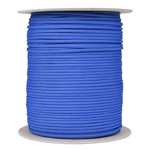 (SGT KNOTS Paracord 550 Type III 7 Strand - 100% Nylon Core and Shell 550 lb Tensile Strength Utility Parachute Cord for Crafting, Tie-Downs, Camping, Handle Wraps (Royal Blue - 10 ft))