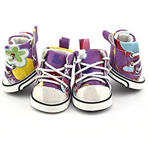 Pet Dog Boot Sneakers Tennis Shoes Graffitti Converse (M)