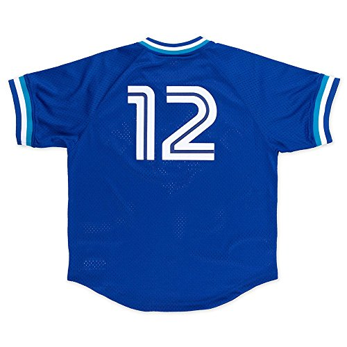 Blue Batting Practice Baseball Jersey - Roberto Alomar Toronto Blue Jays #12 Men's Mitchell & Ness 1993 Authentic Mesh Batting Practice Jersey (M/40)