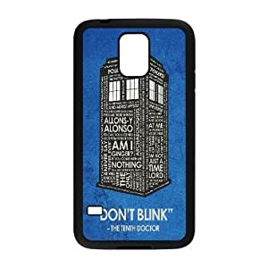 Doctor Who Series, Samsung Galaxy S5 Cases, Doctor Who Quotes Inspiration Don't Blink Cases For Samsung Galaxy S5 [Black]