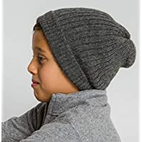 2aada7df1aa Surhilo Callao Alpaca Knit Beanie - Dark Grey - Winter Luxury Cap for Women