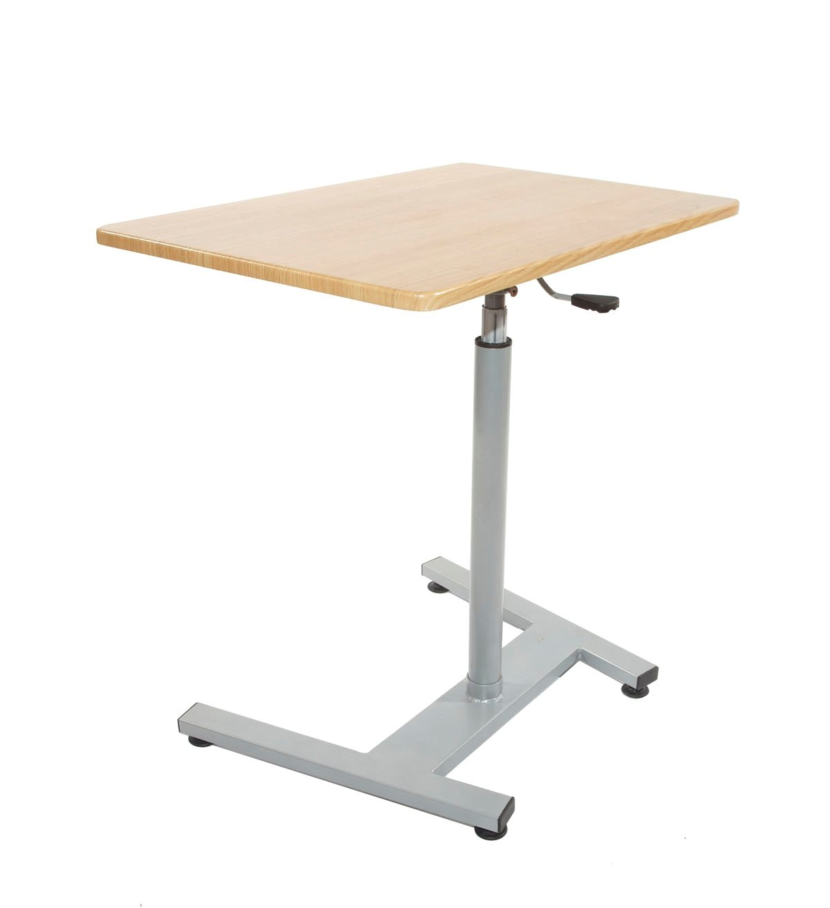 T-Zone TS-1 Sit-To-Standing Desk (Cherry), Ergonomic, Pneumatic Gas Lift Height-Adjustable Desk, 20-Inch by 30-Inch, for Use with Laptop, Computer, or for Sit-Stand Desk and Work Surface, Home or Office Use T-Zone Health
