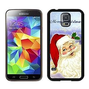 Santa Claus 1 Black Fashion Customize Design Samsung Galaxy S5 I9600 G900a G900v G900p G900t G900w Phone Case