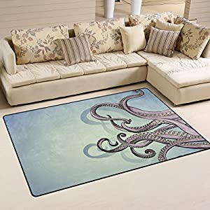 51Tyfjk6EOL._SS300_ 50+ Octopus Rugs and Octopus Area Rugs For 2020