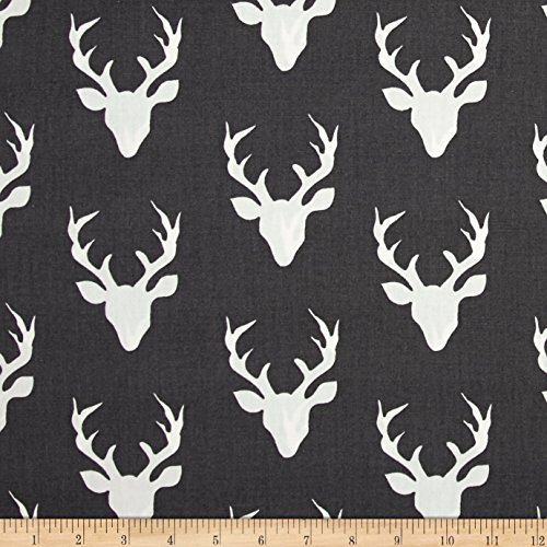 Deer Fabric - Art Gallery Fabrics Art Gallery Hello Bear Buck Forest Moonstone Fabric By The Yard