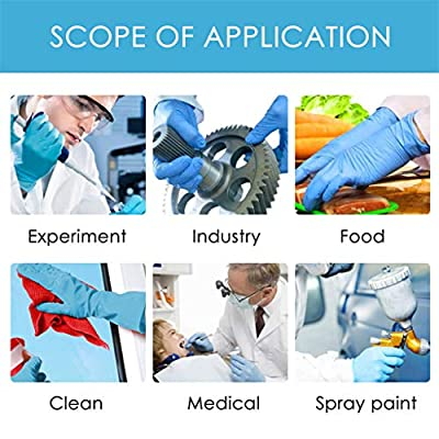 Whear 50 PCS Disposable Gloves Powder Free Latex Free Cleaning Gloves PVC Non-Sterile Comfortable Industrial Exam Blue Rubber Gloves S-XL (Medium): Toys & Games