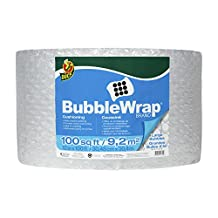 Duck Brand Bubble Wrap Cushioning, Large Bubbles, 12 Inches x 100 Feet, Single Roll (1061909)