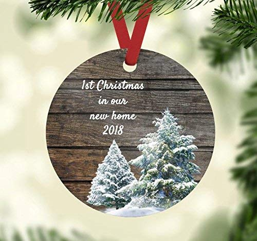 Christmas Ornament - First Christmas in Our New Home 2018