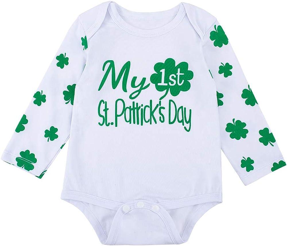 I Love St Patricks Day Cute Summer Newborn Infant Baby Girls Boys Short Sleeve Bodysuits Coverall Jumpsuit Shirt
