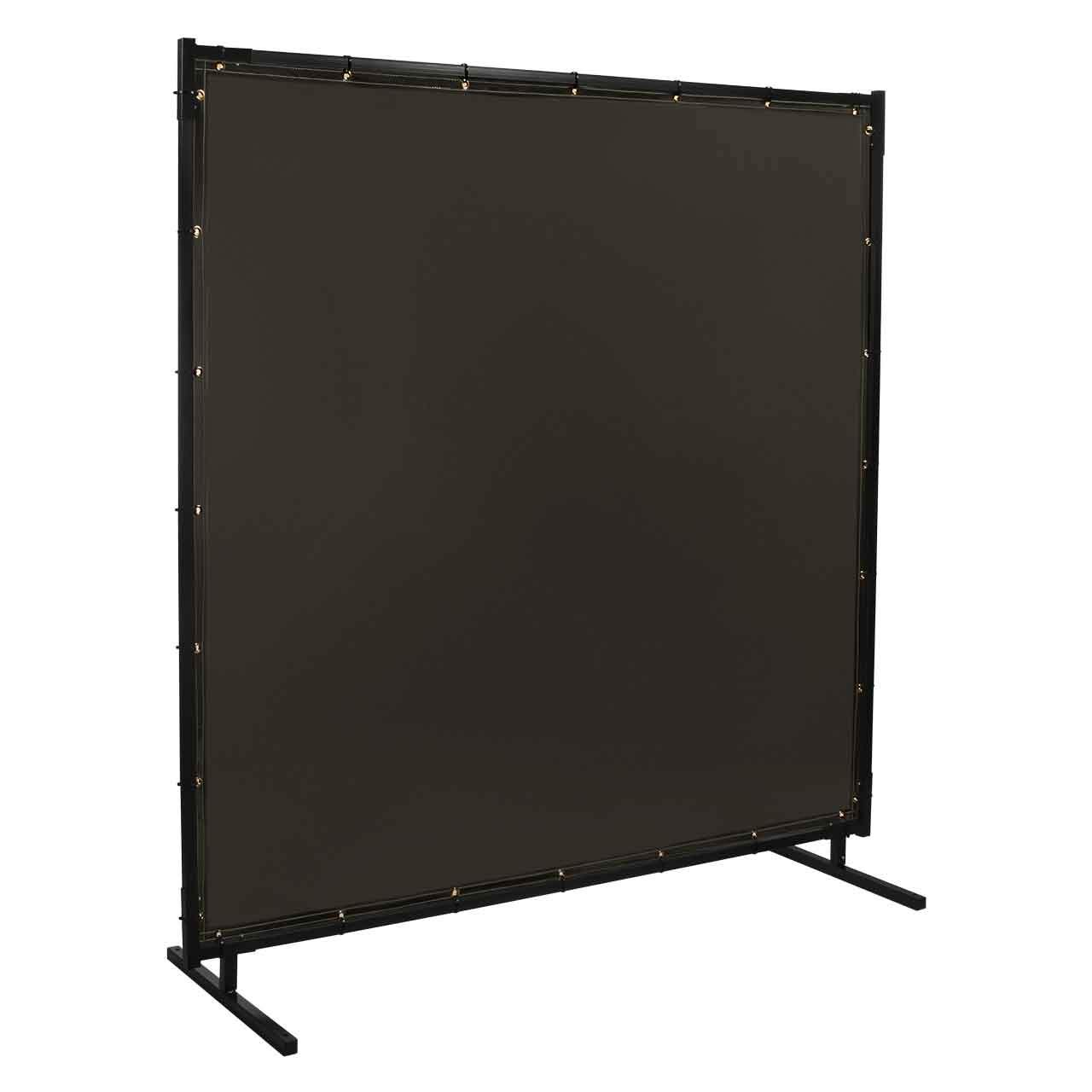 Steiner 532HD-6X8 Protect-O-Screen HD Welding Screen with Flame Retardant 14 Mil Tinted Transparent Vinyl Curtain, Gray, 6' x 8' by Steiner