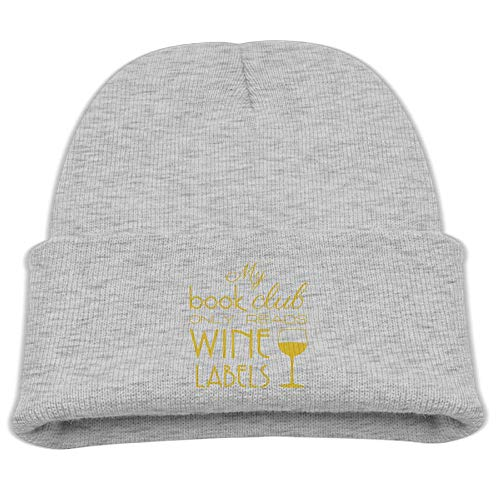 Banana King My Book Club Only Reads Wine Labels Grapes Baby Beanie Hat Toddler Winter Warm Knit Woolen Watch Cap for Kids