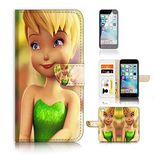 ( For iPhone 6 Plus 5.5' / iPhone 6S Plus 5.5') Flip Wallet Case Cover and Screen Protector Bundle A20030 TinkerBell Tinker Bell A20030
