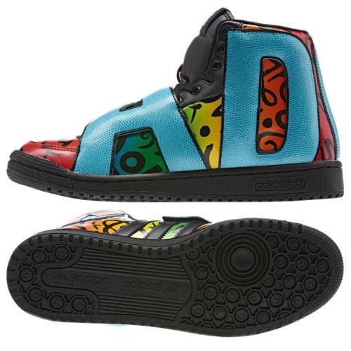 5dc57ba4d531 Adidas Originals ObyO JS Jeremy Scott Letters Multicolor Black D65213 Men s  Shoes (Size 7.5) - Buy Online in UAE.