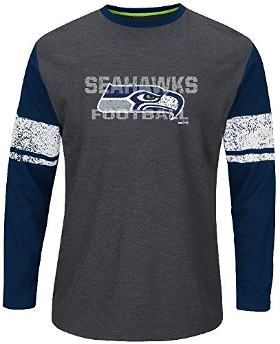 - Majestic Seattle Seahawks Mens Down To The Wire Long Sleeve Thermal Shirt by (X-Large)