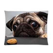 "Pug Dog Custom Pillowcase Standard Size 20"" x 36"" CP-602"