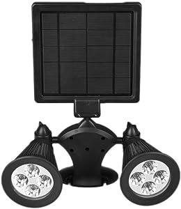 KMYX Solar Wall Light Outdoor Garden Light Lantern Waterproof IP55 Exterior Wall Lamp Double Head European Exterior Wall Spotlights 360° Rotation (Color : Colorful)