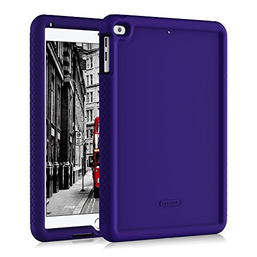 Fintie iPad 9.7 2018/2017, iPad Air 2, iPad Air Case - [Mighty Shield] Heavy Duty Anti Slip Shock Proof Kids Friendly Drop Protection Silicone Cover for Apple iPad 6th 5th Gen, iPad Air 1 2, Navy