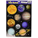 Beistle 54353 Solar System Peel 'N Place Sheet, 12 by 17-Inch