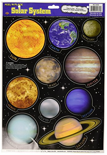 Solar System Peel 'N Place Party Accessory (1 count) (10/Sh)]()