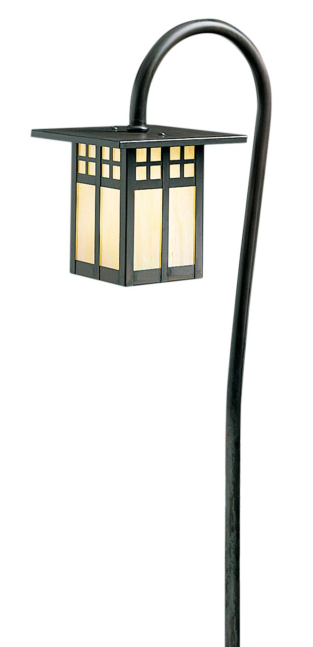 Arroyo Craftsman LV27-G6WO-MB Low Voltage Glasgow Light Fixture, 6'', Mission Brown Metal Finish, White Opalescent Glass by Arroyo Craftsman