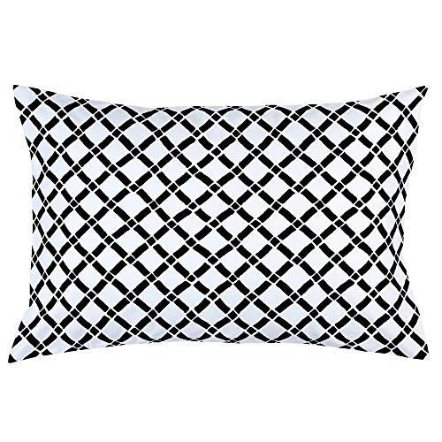 Carousel Designs Onyx Hand Drawn Lattice Pillow Case - Organic 100% Cotton Pillow Case - Made in The USA (Onyx Lattice)