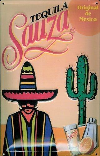 Tequila Sauza diseño de cartel de chapa 20 x 30 cm de metal ...