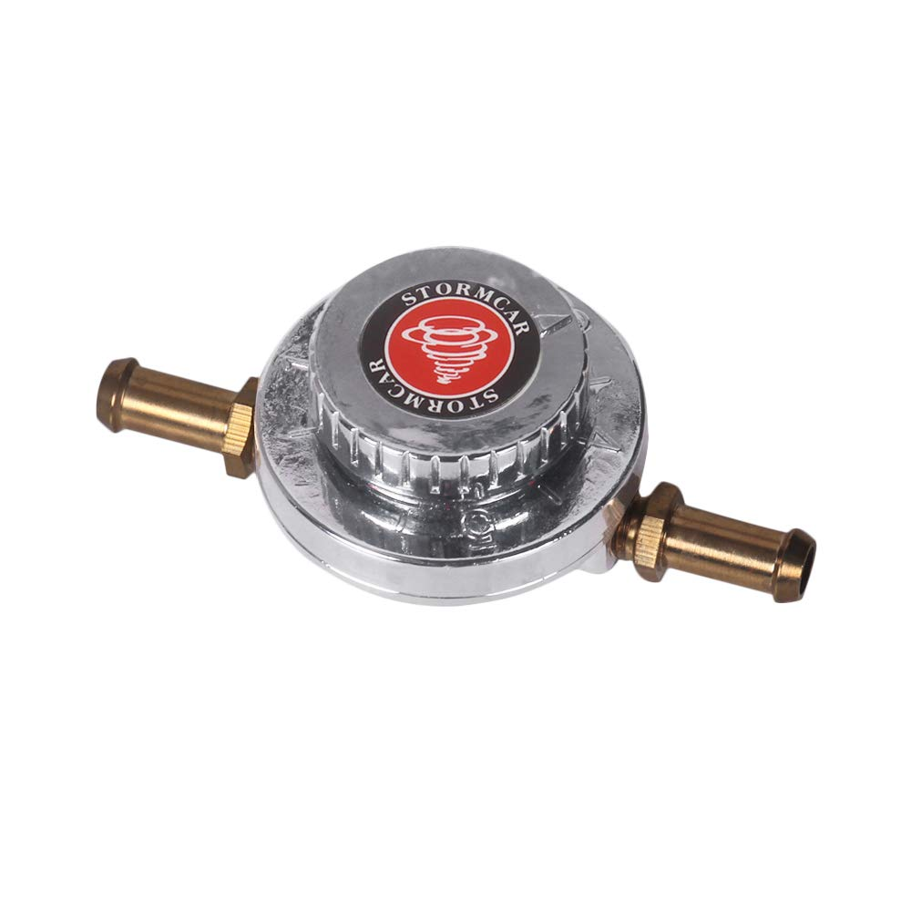 Gunmetal Fuel Pressure Regulator KKmoon Fuel Pressure Regulator Kit Adjustable Universal for Carburetor Engine