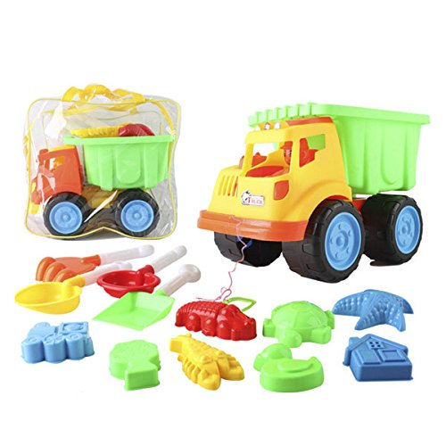13-pieces-Beach-Sand-Toys-Set-in-Zippered-Bag-with-Truck