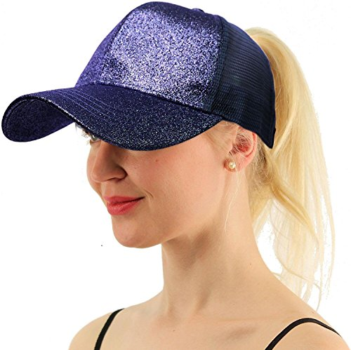 COCO LEE Trend Glitter Baseball Cap for