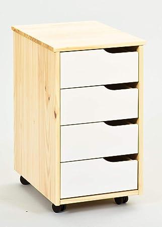 Esidra Hamilton Kommode Holz Natur Weiss 37 X 45 X 65 Cm Amazon