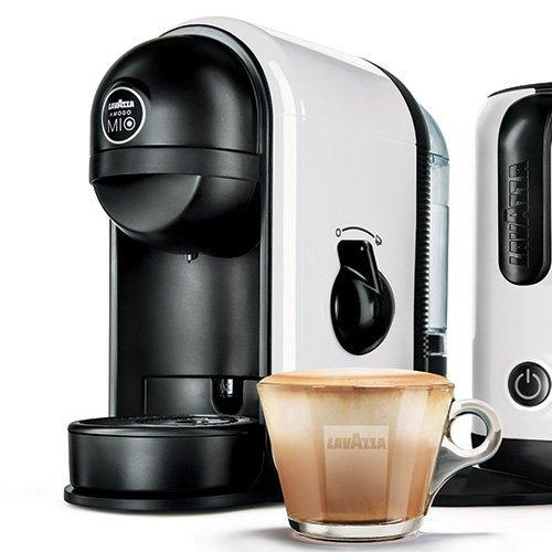 Máquina Lavazza Minu, blanca, para Café con Leche, café, con ...