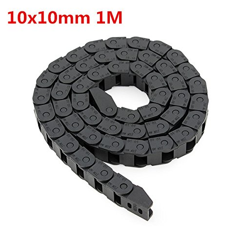 Price comparison product image BephaMart 10 x 10mm Plastic Cable Drag Chain Wire Carrier Length 1000mm For CNC Router Machine Shipped and Sold by BephaMart
